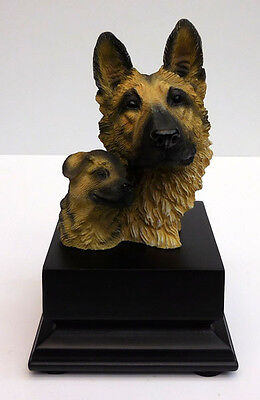 Living Stone German Shepherd And Pup Bust, Small Size  Item #73302