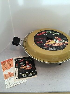 """Watta Pizzaria Mirro Electric Pizza Baker 12""""  Cooker New Old Stock Awesome!"""
