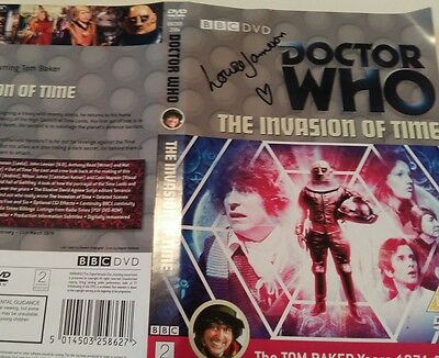 Dr Who The Invasion Of Time Dvd Cover Signed By Louise Jameson