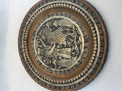 Antique Middle Eastern Babylonian Mixed Metal Tray