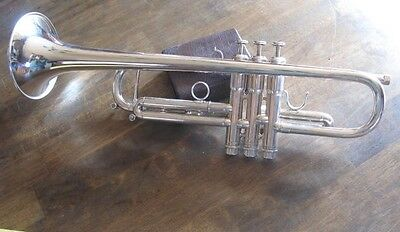 Very Nice Kanstul USA made French Besson Silver Pro Trumpet Stamm model