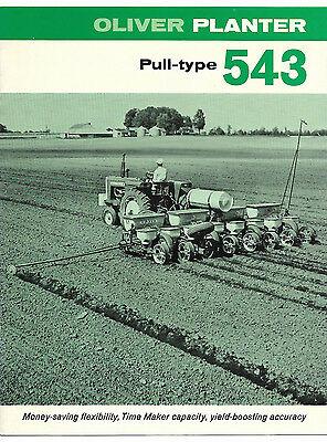 1969 Oliver 543 Pull Type Planter Brochure 4 6 8 Row