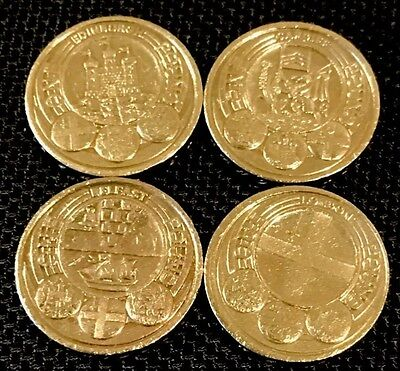 2011 RARE ROYAL MINT CAPITAL CITIES FULL SET 4x1 POUND COIN