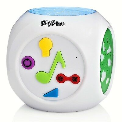 Playbees Baby Sound Machine & Star Projector Night Light Cry Detecting Nurser...