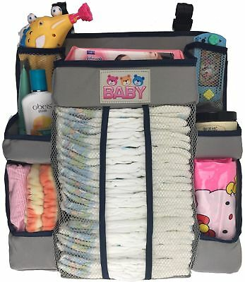 Crib and Changing Table Organizer - Non-Sagging Nursery Organizer For Diapers...
