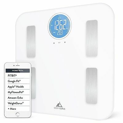 Weight Gurus WiFi Smart Connected Body Fat Scale w/ Large Digital Backlit LCD