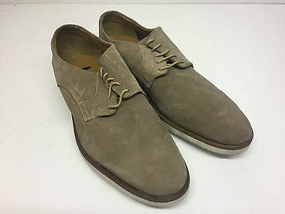 Men's New Beige Clarks Lace Up Suede Formal Casual Shoes (Style 5) Size UK 10.5