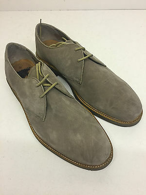 Men's New Beige Clarks Lace Up Suede Formal Casual Shoes (Style 6) Size UK 6.5