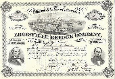 Louisville Bridge Company......1880 Stock Certificate