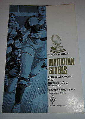 W.D. & H.O. Wills Invitation 7's Competition 3rd June 1967 @ Headingley, Leeds