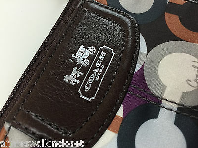 Coach Madison Graphic Opt Art Mini Skinny Coin Purse/ Key Pouch