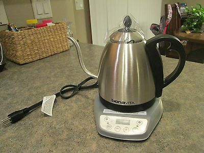 BONAVITA Electric Kettle Gooseneck BV382510V Stainless Steel NEW w/o Box