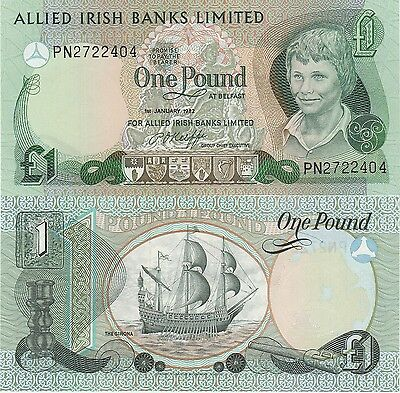 Ireland-Northern 1 Pound Banknote,1.1.1982 Uncirculated Condition Cat#1-A-2404