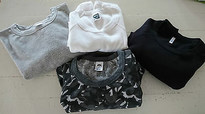 New Mens Older Boys Short Sleeve Thermal Waffle T Shirt Tops  PRICE IS FOR 4