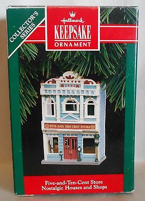 "1992 Hallmark Keepsake Ornament ""Five-and-Ten-Cent Store"" #9 in Series MIB"