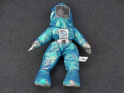 """(B6) Intel Inside Green/Blue Bunny People Character 13"""" Doll 1997 with Tag"""