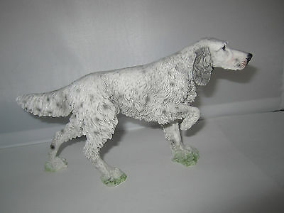 English Setter dog figure on point model by Castagna hand made in Italy new