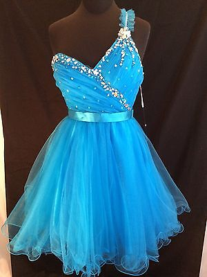 NWTS Alyce Paris Style 3533 Prom Special Occasion Dress Size 8 Ocean Blue