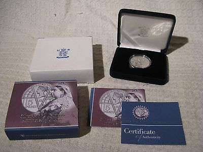Royal Mint 2001 Victorian Anniversary Silver Proof £5 Pound Crown Coin