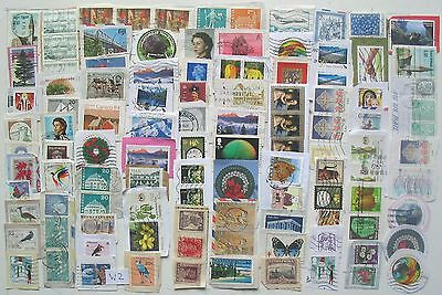 World Used Lot 100 stamps on paper.W2