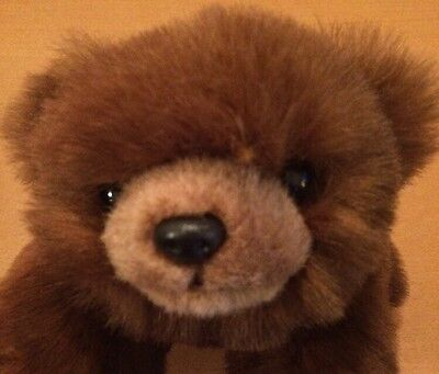 """Ty Laying Brown Bear Plush From 1996 12"""""""