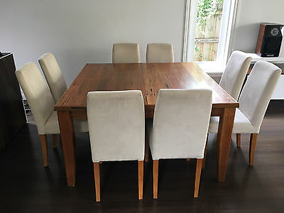 Dining Table Square and 8 Chairs