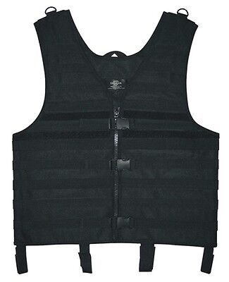 Tactical Molle Vest Black adjustable medium to XL Hunting Security