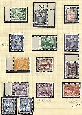 British Guiana 1932 KGVI issue Sc #230-241 MNH/used