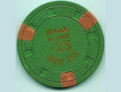 1973 DORADO DEL MAR Hotel $25 Green Red Casino Chip PUERTO RICO PAULSON H&C mold