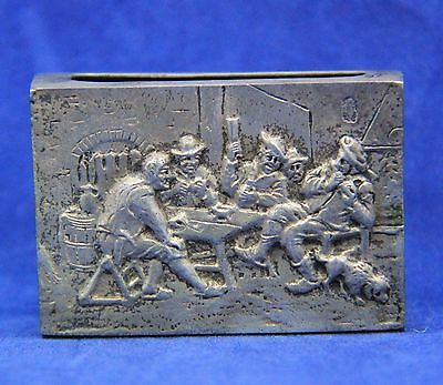 Antique Silver Dutch Match Box Cover Case, Holland, 830 Silver Hallmarked