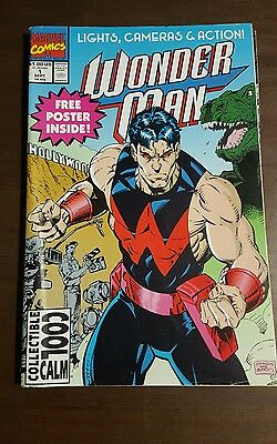 Wonder Man #1 white pages 1991 Marvel Comic Good Condition