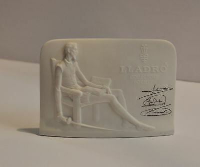 Lladro Collectors Society Standing Plaque Signed 1985 Don Quixote Spain Display