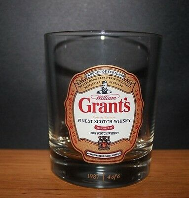 Retro Grants Scotch Whisky Collectable Glass Perfect for Bar Or Man Cave