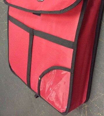 """18""""x18""""x5"""" INSULATED PIZZA DELIVERY BAG 2 HRS@167 DEGREE CATERING RED PIE FOOD"""
