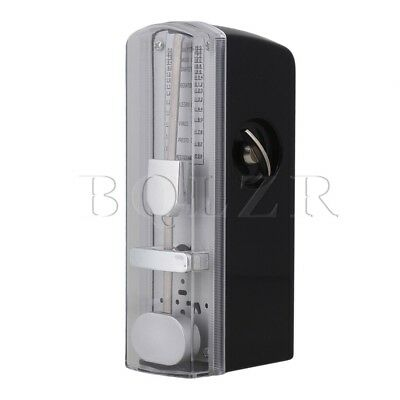 Black 11cm Height Mini Mechanical Metronome for Piano Guitar Replacement