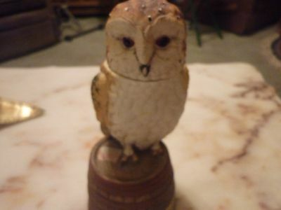 Porcelain Owl figurine/Whiskey Decanter (EMPTY) Choose one