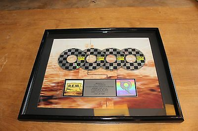 R.E.M. - RIAA Platinum CD LP Award / Out Of Time 1991 /  4,000,000 copies sold