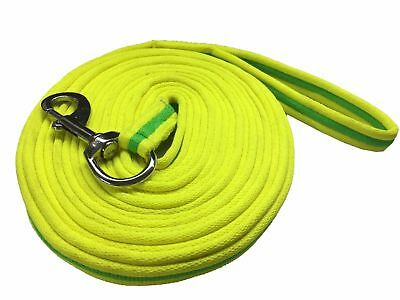 Soft Lunging Reins Horse Training Aid Lung Line Lunging Rope In Lime/green/lime