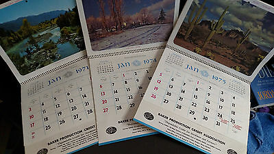 1971 1974 1975 Calendars Advertising Production Credit Services of Baker OR Area