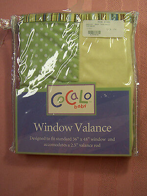 "NWT CoCaLo baby WINDOW VALANCE ""OASIS"" FITS 36-48"" WINDOW MODEL ""717027"""