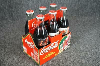 Coca-Cola Set Of 6 8-Oz Unopened Bottles Christmas 1997