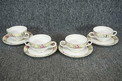 Edwin Knowles Tea Cups With Saucers Set Of 4