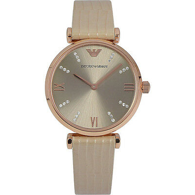 ** NEW ** Emporio Armani® watch AR1681 Ladie`s Champagne with crystals