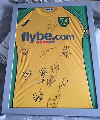 Norwich City Signed Shirt 2007-2008 This Shirt Comes Without Frame