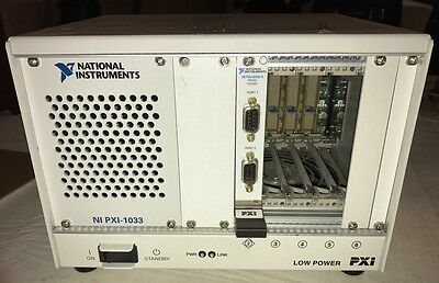 National Instruments NI PXI-1033 Chassis with NI PXI-8432/2
