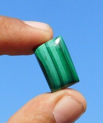 19.2 Cts Untreated 100% Natural Green Malachite 20X12X5 Mm  Loose Cab Gemstone