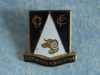 Vintage Derby County Black And White Football Supporters Association Pin Badge