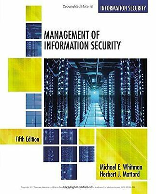 Management of Information Security by Whitman  Michael Paperback New  Book