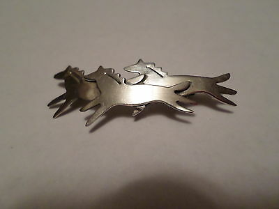 Far Fetched Wild Herd Sterling Silver HORSE Pin