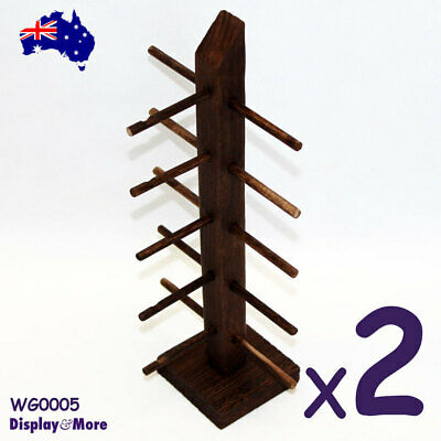 2X Wood Sunglasses Eyewear Holder Stand | NATURE Style | AUSSIE Seller